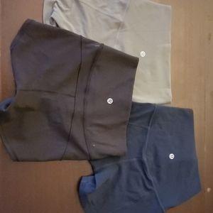 3 pairs Lu Lu Lemon shorts